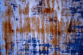 Surface Rust Blue Royalty Free Stock Photo