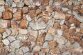 Surface of the stone walls that concatenation and build by the c cement for background design Stock Photography