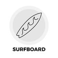 Surfboard Line Icon