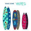 Surfboards disign. colorful illustration