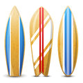 Surfboards surfboard icons over white background Stock Images