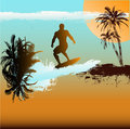 Surfer Background Royalty Free Stock Photo
