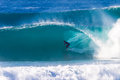 Surfer Balance Hollow Wave Royalty Free Stock Photography