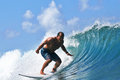 Surfer Egan Inoue surfing in Hawaii Royalty Free Stock Image