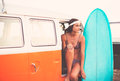 Surfer Girl Beach Lifestyle Royalty Free Stock Photo