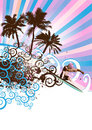 surfer island vector Royalty Free Stock Photo