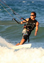 Surfer Kite surf Cullera  Valencia province Spain Royalty Free Stock Images
