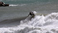 Surfer in Levanto Stock Images