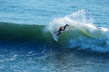 Surfer Nat Young Surfing in Santa Cruz, California Royalty Free Stock Photography