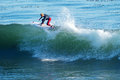 Surfer Nat Young Surfing in Santa Cruz, California Royalty Free Stock Photos