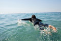 Surfer surfing in the sea Royalty Free Stock Photo