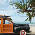 Surfer Woody Wagon Royalty Free Stock Photo