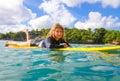 Surfermeisje Royalty-vrije Stock Fotografie