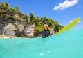 Surfermeisje Royalty-vrije Stock Foto's
