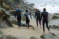 Surfers at Brooks Street, Laguna Beach, California. Royalty Free Stock Photo