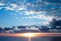 Sunrise at Surfers Paradise Royalty Free Stock Photo