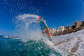 Surfing Air Water Action Royalty Free Stock Photo
