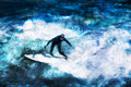Surfing as a Summer Sport Royalty Free Stock Images