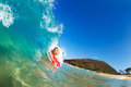 Surfing Blue Ocean Wave Royalty Free Stock Photo