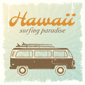 Surfing Car Poster