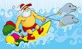 Surfing Santa Stock Images