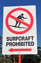 Surfing Sign Royalty Free Stock Photography