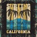 Surfing sun sea, surfing t-shirts, T-shirt inscription typograph Royalty Free Stock Photo