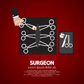 Surgeon s incision scissors vector illustration Royalty Free Stock Photography