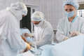 stock image of  Surgeons in the operating room