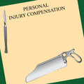 Surgical error personal injury compensation related to vector illustration Royalty Free Stock Images