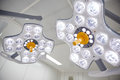 Surgical lamps in operation room at hospital Royalty Free Stock Photo