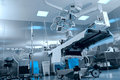 Surgical operating room with equipment Stock Images