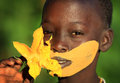 Suri girl with flower beautiful at a ceremony in south omo ethiopia Royalty Free Stock Photo