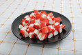 Surimi - crab fingers Stock Photos