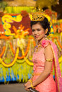 Surin Parade Beauty Queen Tiara Pink Stock Photography