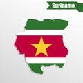 Surinamese pin icon and map pointer flag. Vector