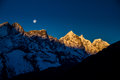 Surise in Tengboche Royalty Free Stock Photo