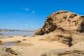 A surpresa da rocha em mekong river Fotos de Stock