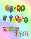 Surprise Birthday Party invitation Royalty Free Stock Photos