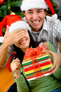 Surprise Chirtmas gift Royalty Free Stock Photography