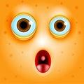Surprise or fright cartoon face