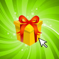 Surprise gift Royalty Free Stock Photos