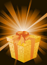 Surprise gift vector Stock Photography