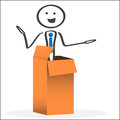 Surprise out of the box Royalty Free Stock Photo