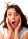 Surprise - A very surprised girl Stock Images