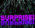 Surprise Word And Fireworks Showing Shock Stock Photography