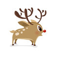 Surprise young deer in flat style.