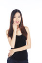 Surprised Asian Woman Royalty Free Stock Image