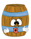 Surprised barrel cartoon