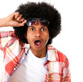 Surprised black man Royalty Free Stock Images